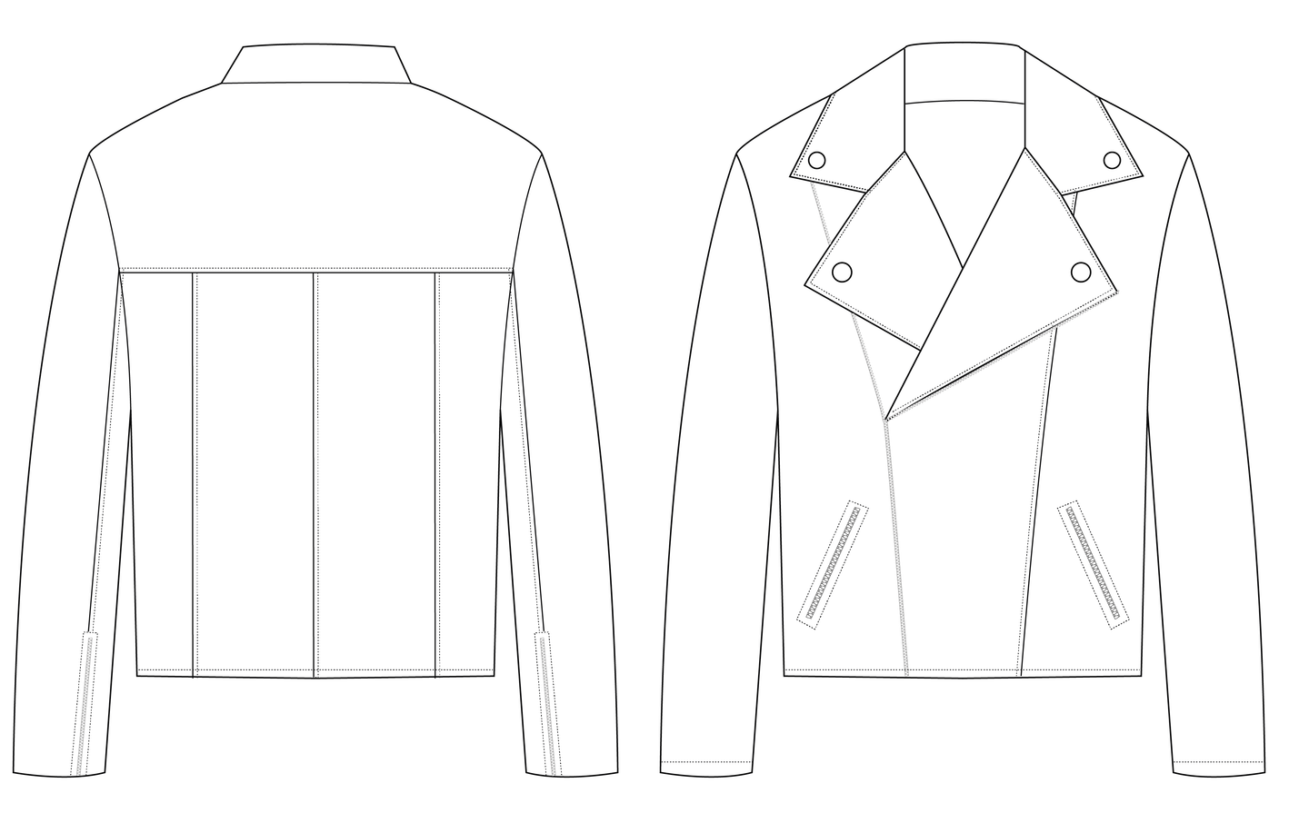 BIKER JACKET - PATTERN (MENS)