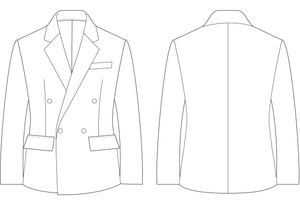 BLAZER (DOUBLE BREASTED) - PATTERN (MENS)