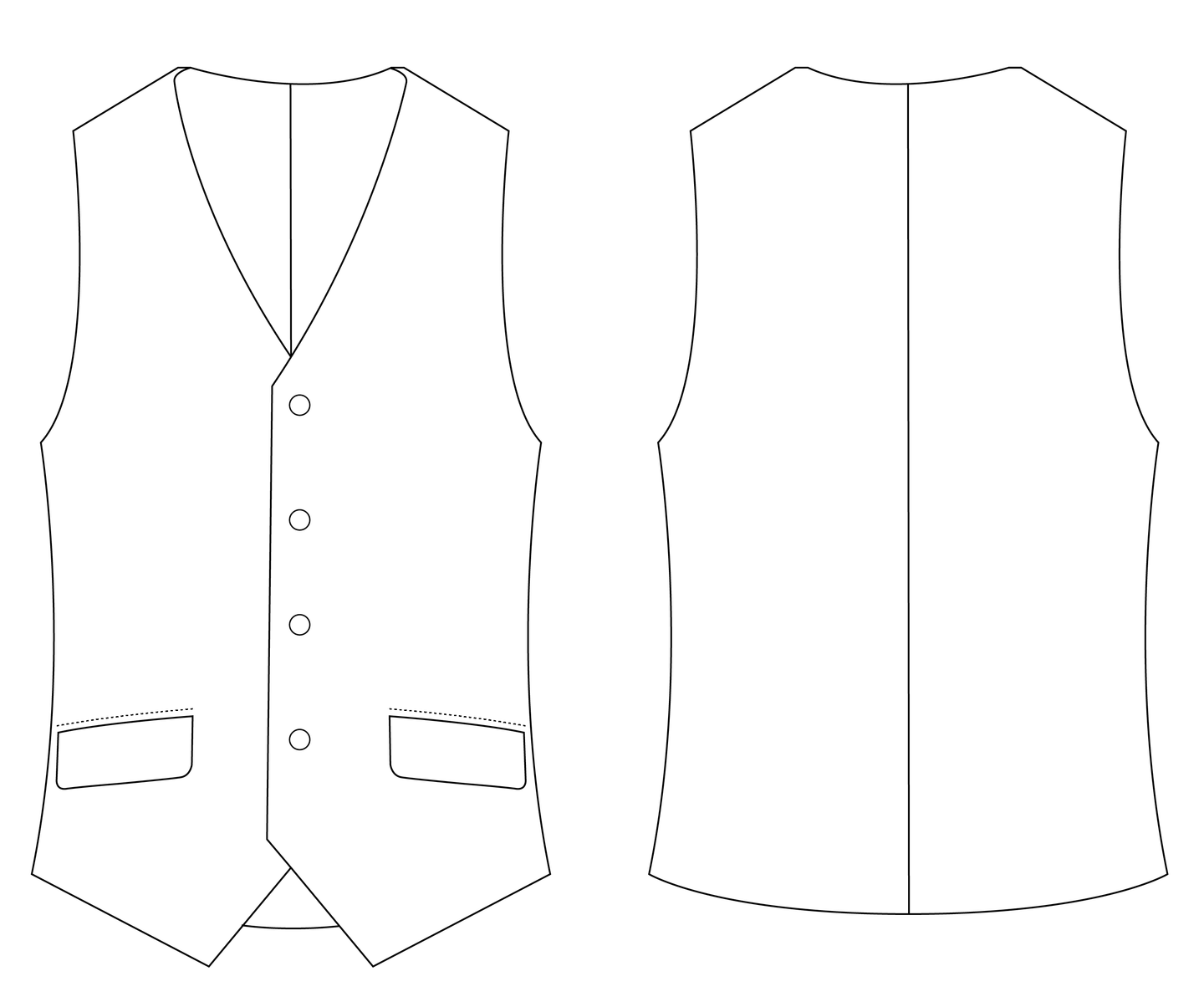 WAIST COAT - PATTERN (MENS)