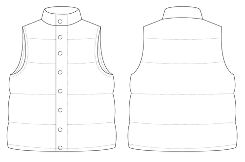 PADDED GILET - PATTERN (MENS)