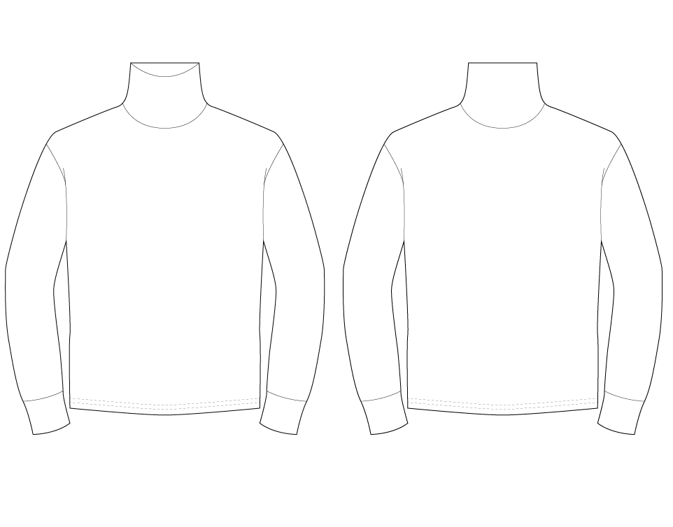 HIGH NECK SWEATER - PATTERN (MENS)