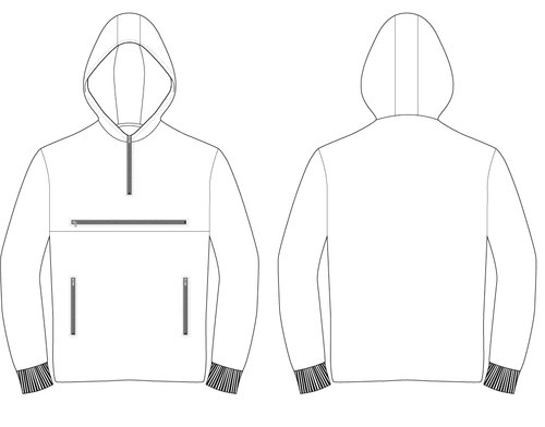 HOODED PULLOVER JACKET - PATTERN (MENS)