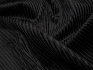 Cotton Corduroy - 5 Wale, Black