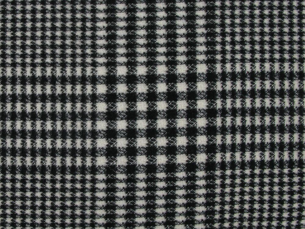 Judo Brushed Check Italian Wool Blend