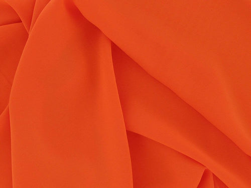 Koshibo Lightweight Polyester Crepe, Orange