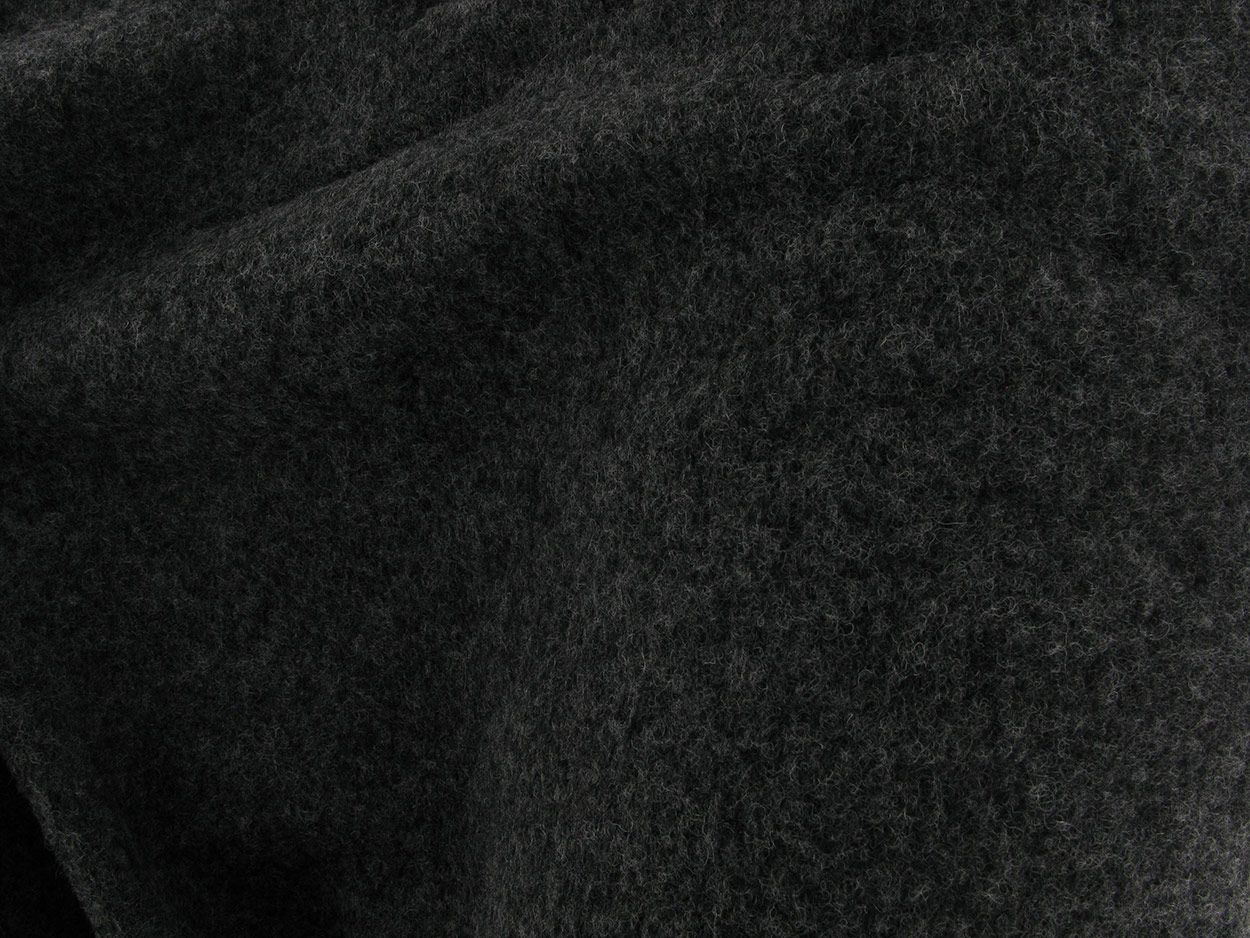 Boiled Wool Blend, Dark Grey