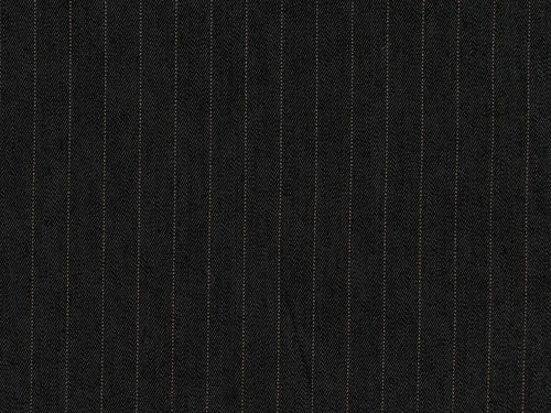 Lightweight Pinstripe Stretch Denim, Black