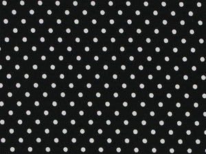 Mini Dots Cotton Poplin Print, Black