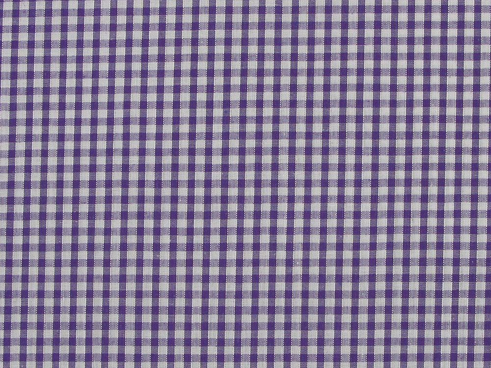 Polycotton Gingham, 1/8 inch - Purple