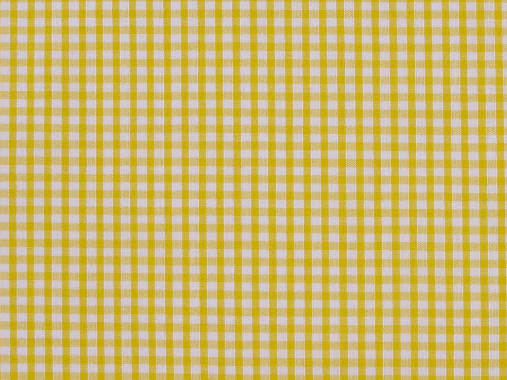 Polycotton Gingham, 1/8 inch - Yellow