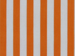 Medium 1cm Stripe Polycotton Print, Orange