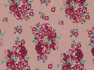 Rose Cluster Polycotton, Print Pink