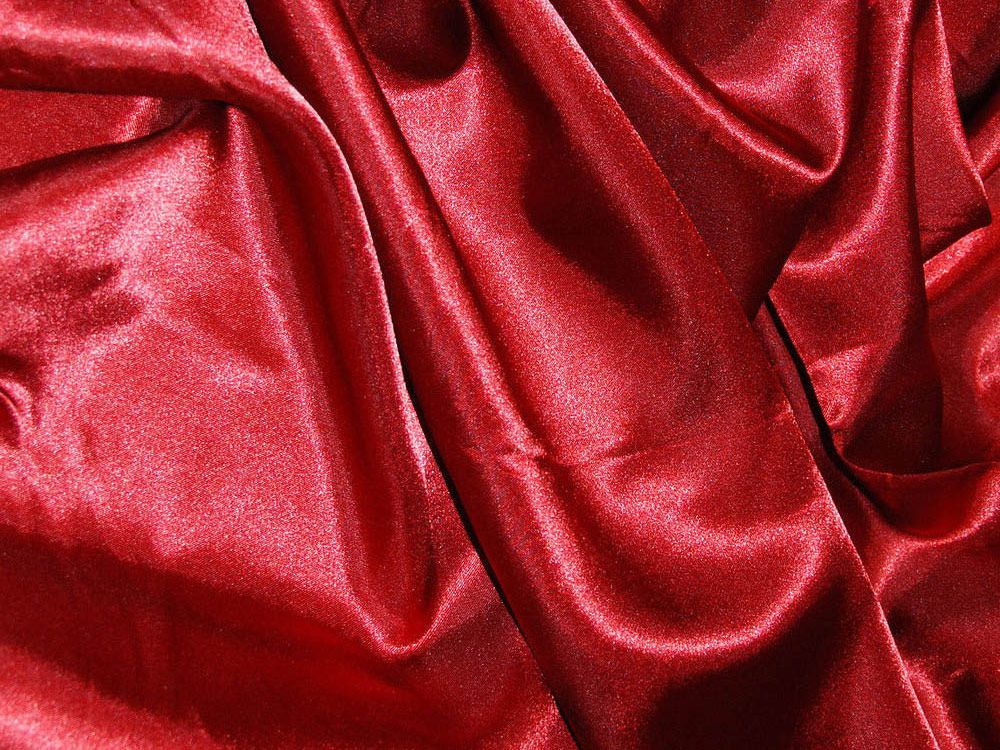 Silk Feel Polyester Satin, Deep Red