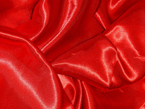 Silk Feel Polyester Satin, Red