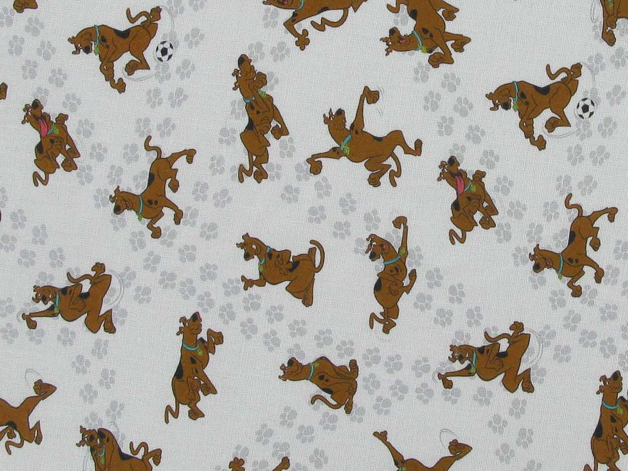 Scooby Printed Cotton, Football Time