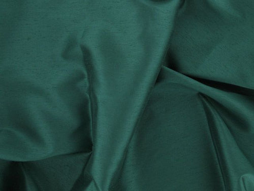 Satin Back Shantung - Bottle Green