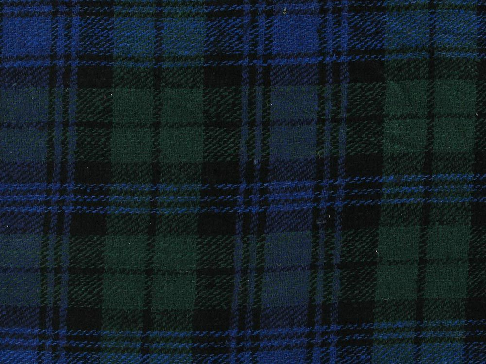 Raw Silk Noile Tartan, Green
