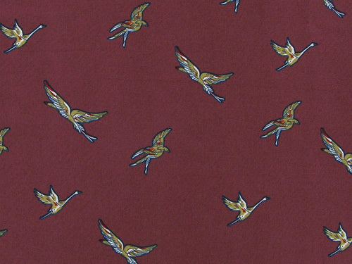 Birds in Flight Stretch Polyester Print, Dusky Rose