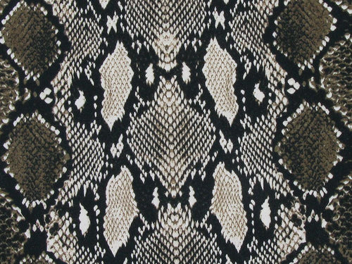 Snakeskin Cotton Jersey, Brown