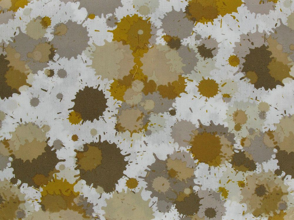 Splat Cotton Print, Ochre