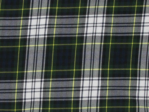 Tartan Poly Viscose - Black and White