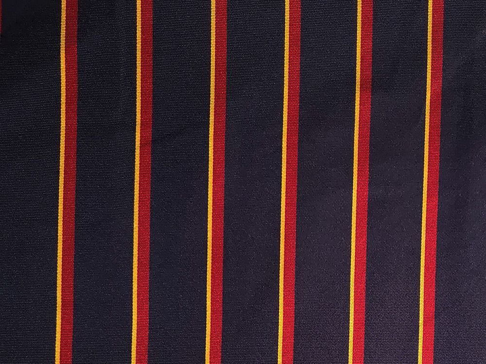 Woven Narrow Width Silk, College Stripe, Navy