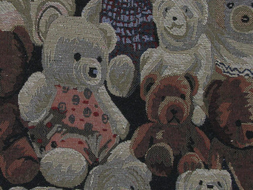 Polycotton Woven Tapestry, Large Teddy Assembly