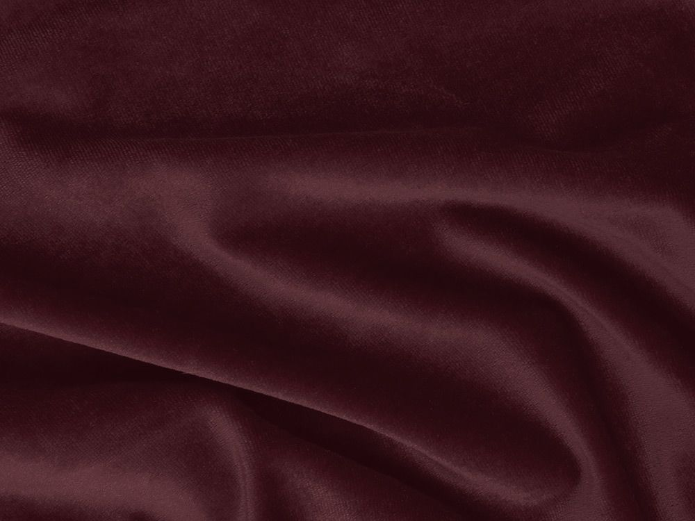 Cotton Pile Fire Retardant Velvet, 350 g/m², Wine