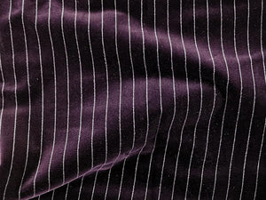 Premium Cotton Pile Striped Velvet, Purple