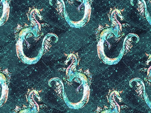 Merboys Cotton Print, Mini Adventure, Sea Monster