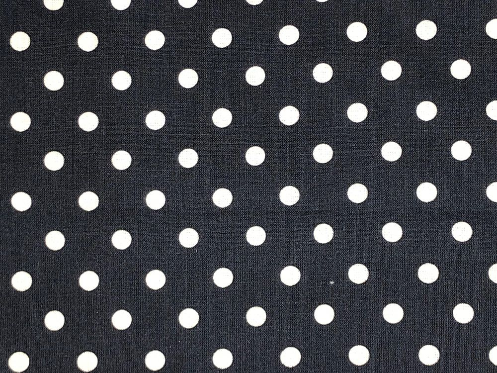 Craft Collection Cotton Print, Pea Spot, Navy
