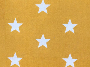 Craft Collection Cotton Print, Large Star, Mustard