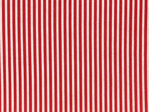 Craft Collection Cotton Print, Candy Stripe, Red
