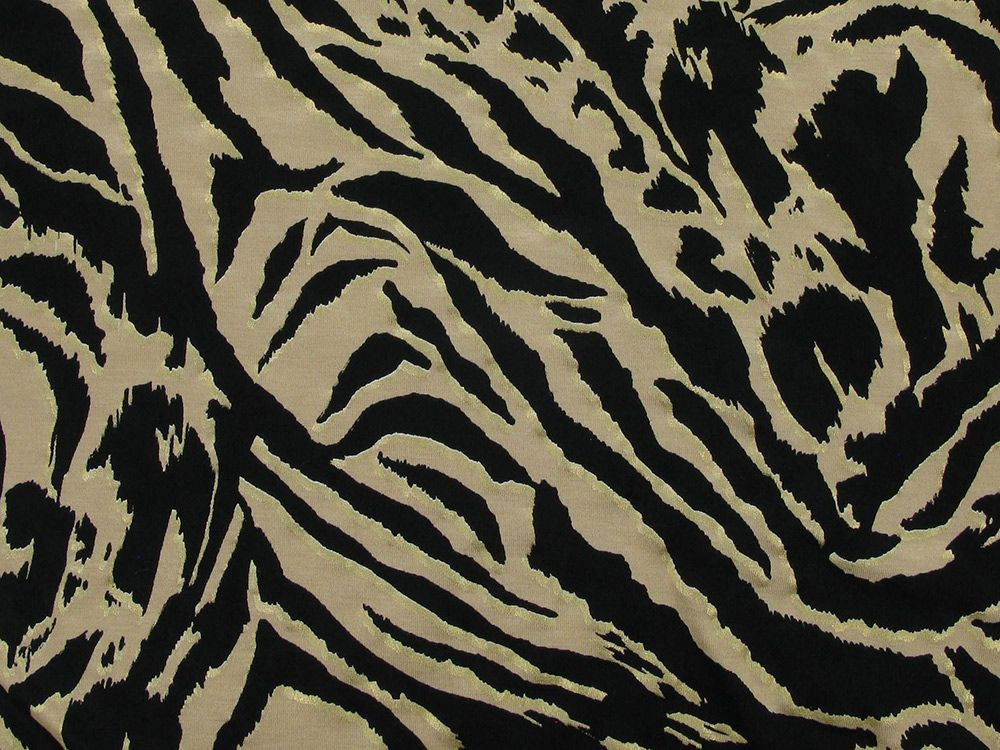 Gold Foil Tiger Viscose Jersey