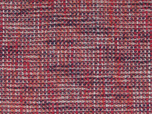 Tweeded Cotton Mixed Fibres - Red