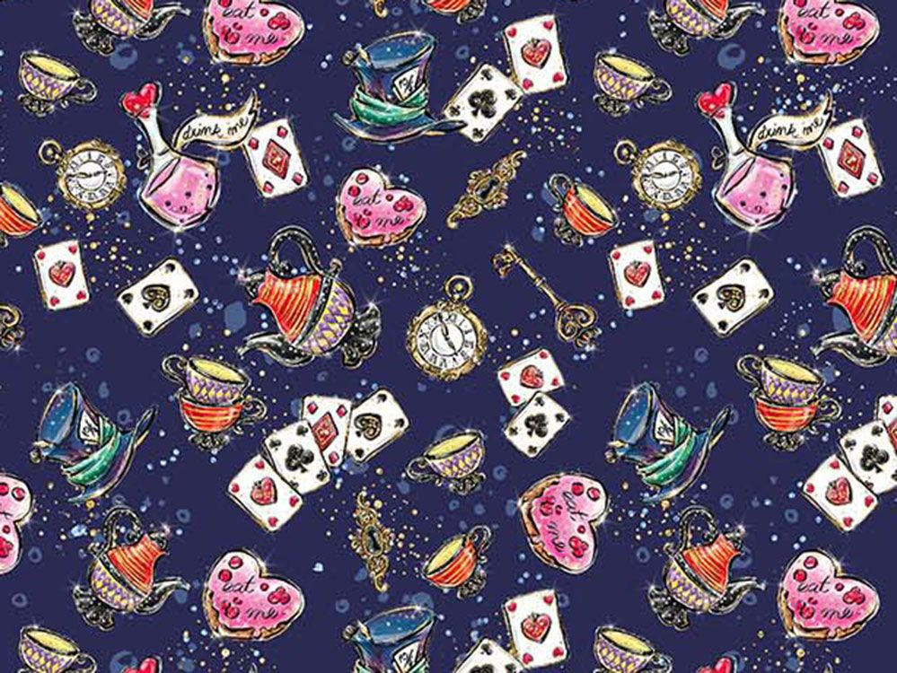 Wonderland Potions Cotton Print