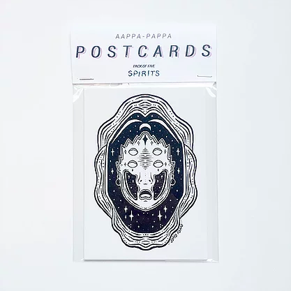 Postcard pack of 5 - Spirits