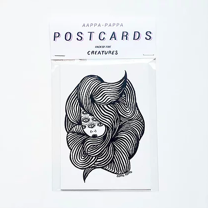 Postcard pack of 5 - Creatures