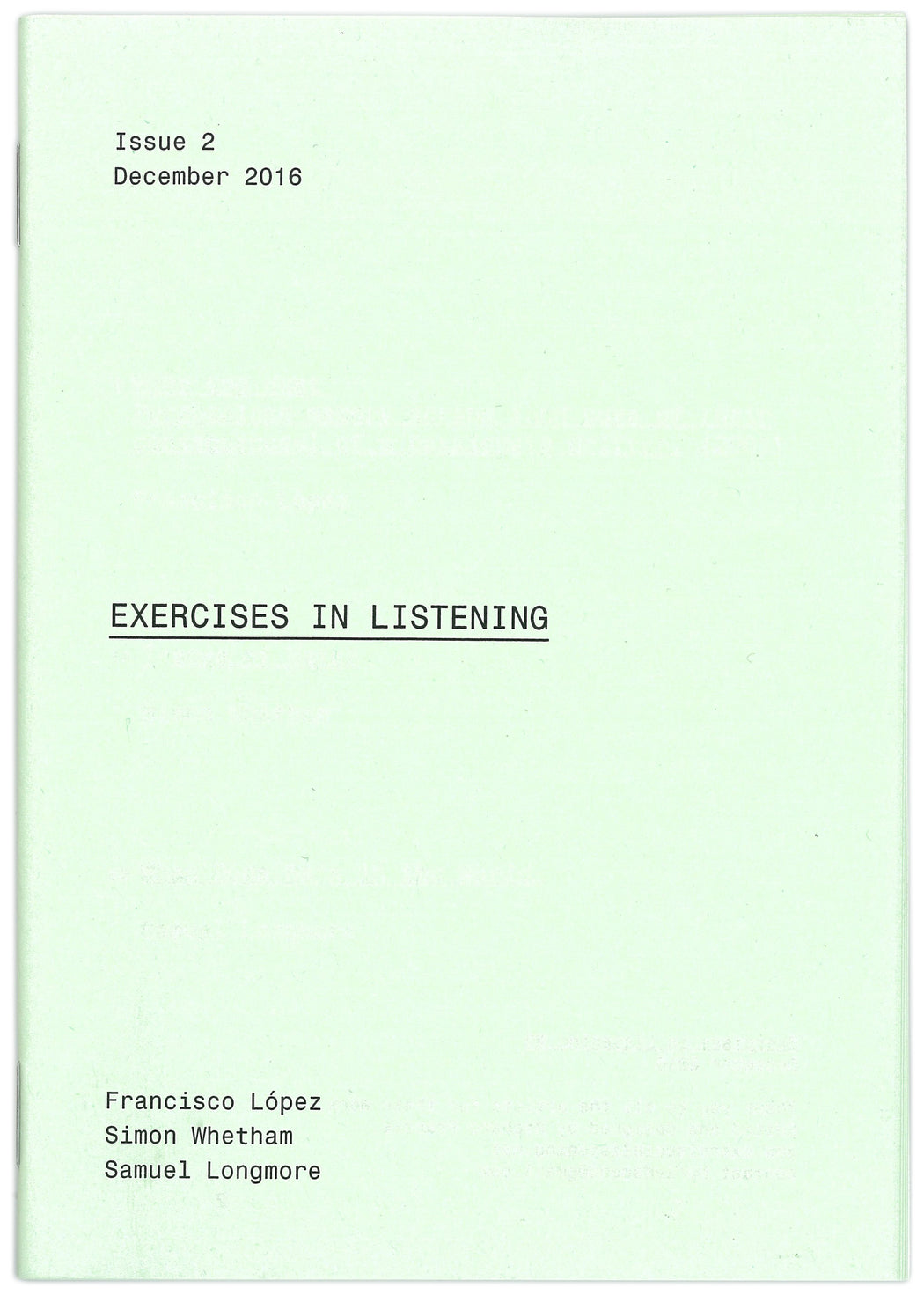 Exercises In Listening #2 - Strange Goods