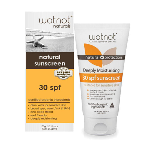 30 SPF Natural Sunscreen 150g, Wotnot, Face Sunscreen