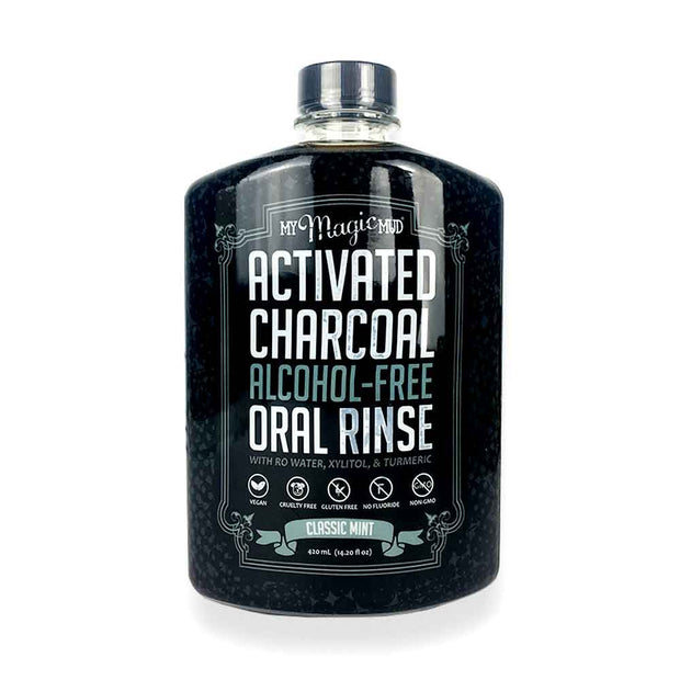Activated Charcoal Oral Rinse 420g - Mint, My Magic Mud, Mouthwash