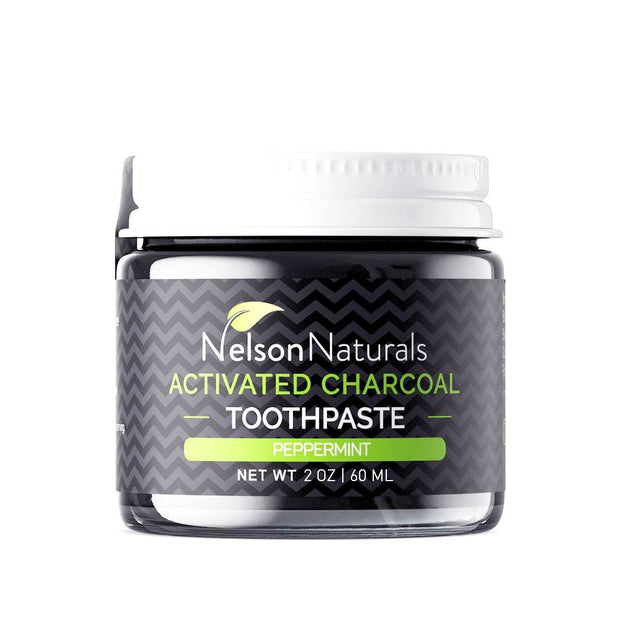 Activated Charcoal Whitening Toothpaste 60mL, Nelson Naturals, Toothpaste