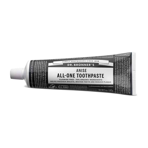 All-One Toothpaste - Anise 140g, Dr Bronner's, Toothpaste