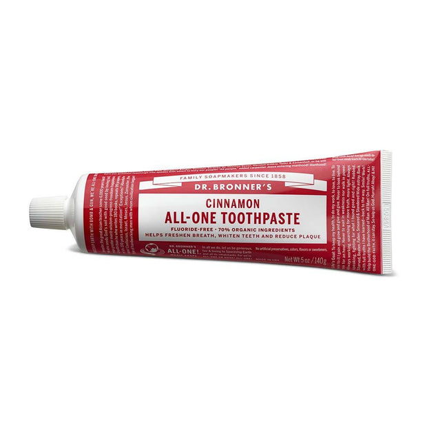 All-One Toothpaste - Cinnamon 140g, Dr Bronner's, Toothpaste