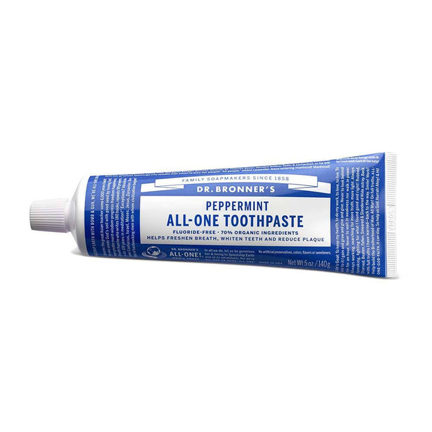 All-One Toothpaste - Peppermint - 140g, Dr Bronner's, Toothpaste
