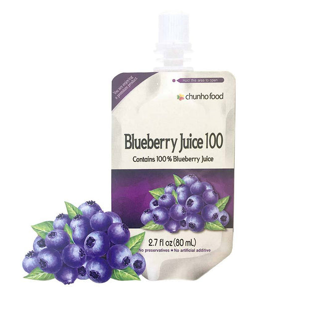 Blueberry Juice 100% Extract 1pk | 5pk | 10pk | 30pk, Chunho Food, Drinks