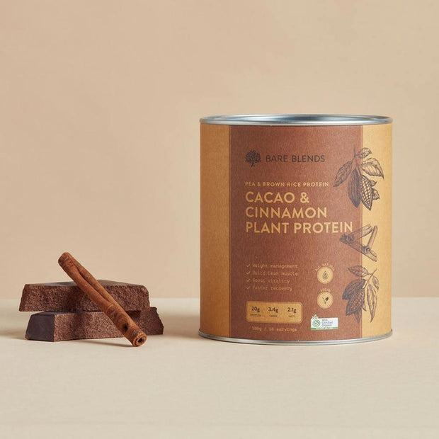 Cacao & Cinnamon Plant Protein 500g, Bare Blends, Protein