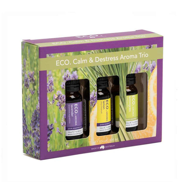 Calm & Destress Aroma Trio - Limited Edition (3 x 10ml), Eco Modern Essentials, Essential Oils