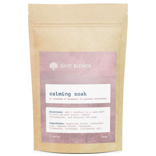 Calming Bath Soak 300g, Bare Blends, Bath Soak