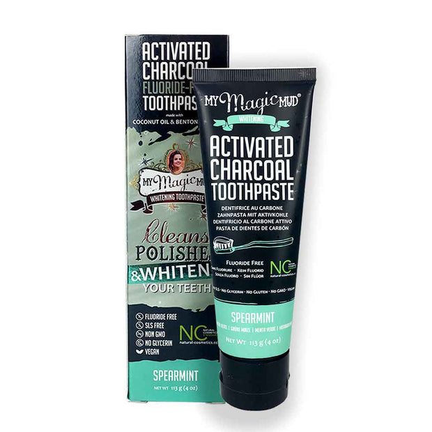 Charcoal Teeth Whitening Toothpaste 113g - Spearmint, My Magic Mud, Toothpaste